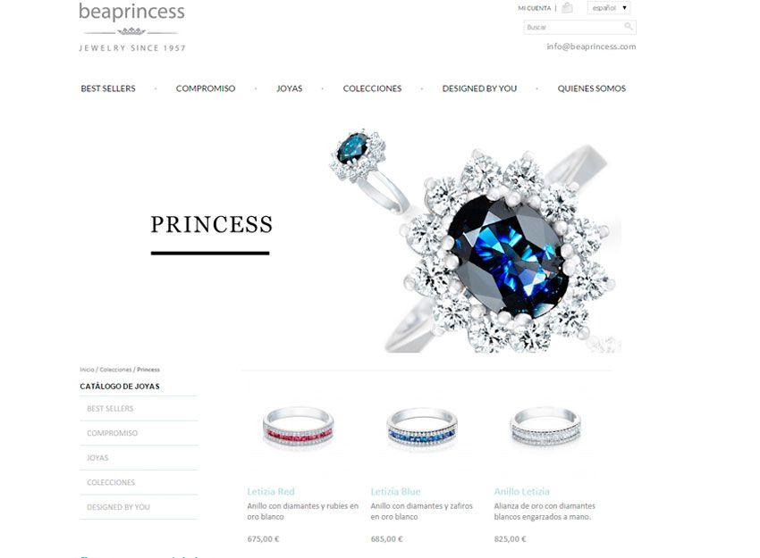 diseño web beaprincess