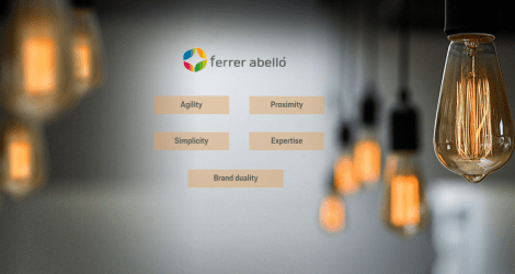 Together with the Ferrer Abelló Group, we develop its communication plan and brand architecture.