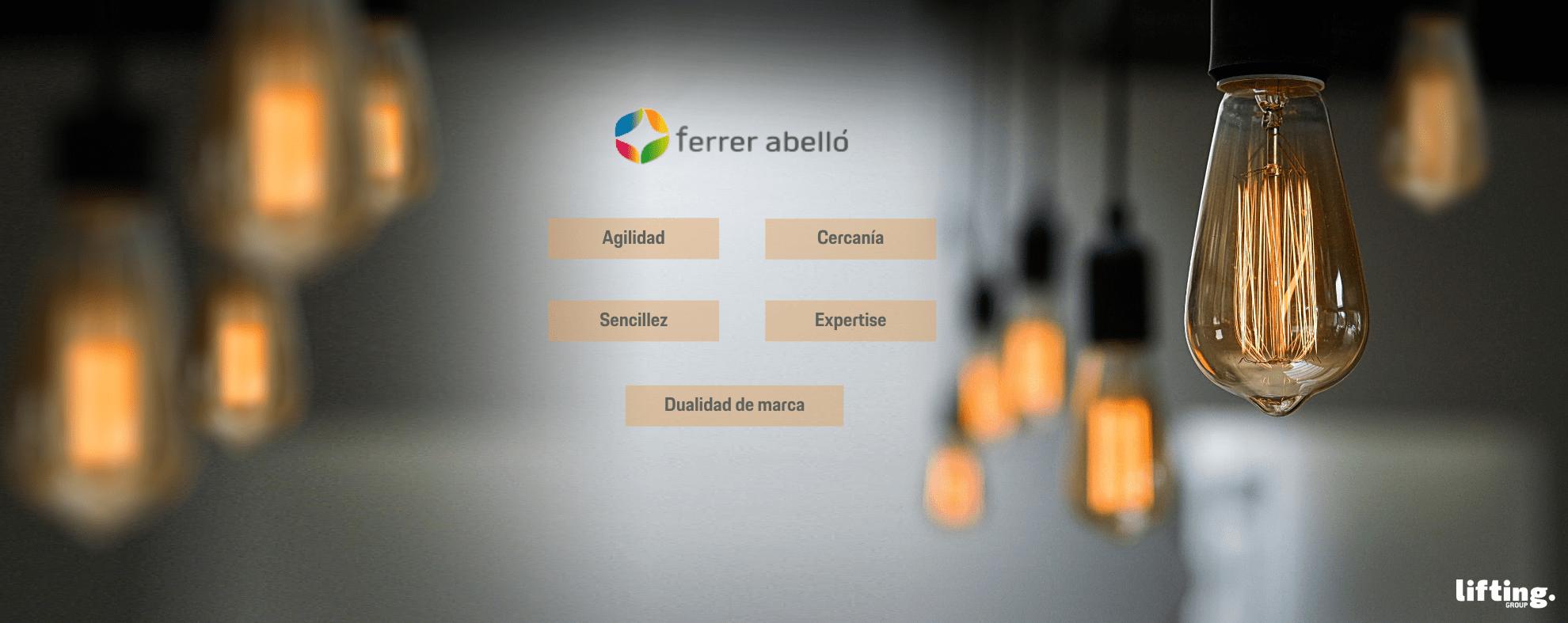 Desarrollamos de la mano del Grupo Ferrer Abelló su plan de comunicación y arquitectura de marcas.