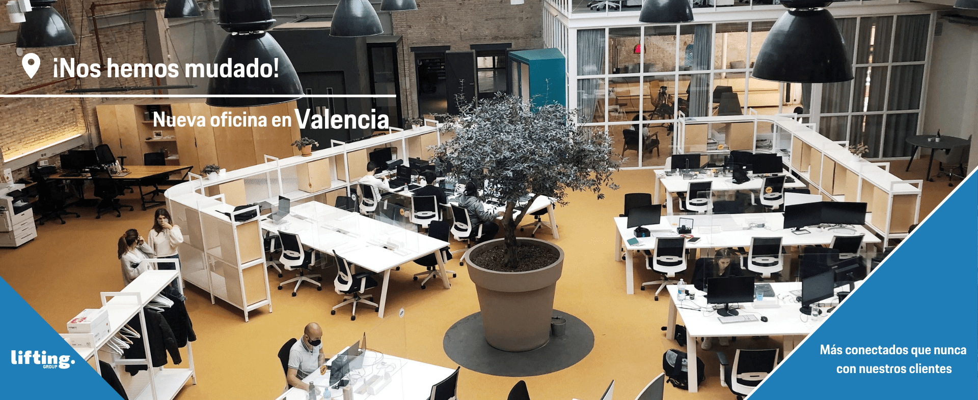 ¡Nos hemos mudado! ¡Nueva oficina Lifting Group Valencia!